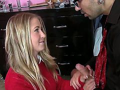 Voodoo unpacks his heavy and loaded meat gun and feeds it to Casis hungry, teen slit. Blonde nanny behaves so good she gets to suck of his cock as well.
