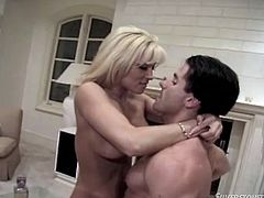 Make sure you have a look at this hardcore scene where the horny blonde Jill Kelly ends up with her mouth filled by cum after being fucked.
