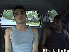 A White guy has gay threesome with Black dudes. Nikola sucks a big black cock and gets ass fucked at the same time.