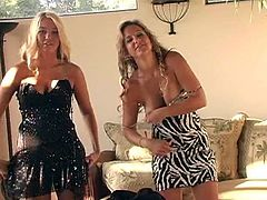 Sexy Blonde Alison Has Lesbian Fun with Her Friend