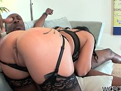 Check out super hot big titted MILF Sienna West sucking on a big black shaft! Then she can't resist the tempation and rides it like a champ!
