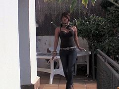 Cum Louder brings you a hell of a free porn video where you can see why the nasty ebony slut Jasmine Webb is a wild zombie fucker. She loves getting her cunt blasted by a white cock!