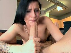 Raven haired wanton lassie with small titties enjoys passionate flying 69 fuck with her bellowed dawg. A bi afterwards he pokes her thirsting mouth hard deep throat. Watch this lusty wench in My XXX Pass sex clip!