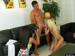 blue eyes blonde gives head at casting