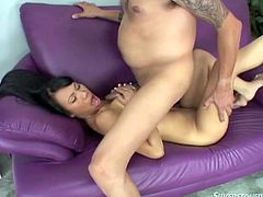 This exhilarating exotic beauty sucks on a bunch of cocks and gets her motherfuckin' face covered with fuckin' jizz! Check it out!