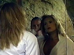 Slutty and kinky whore with nice shape and blond hair gets her tits kissed by the hairy man. Watch in steamy The Classic Porn xxx clip.