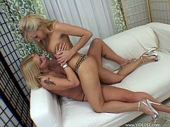 Make sure you get a load o his lesbian scene where these horny babes make your day as they have some hot fun.
