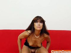 Czech Cougars brings you a hell of a free porn video where you can see how a hairy Czech mature dildos her tight pink cunt into heaven while assuming very hot poses.