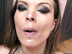 Bailey Brooks makes a dirty dream of never-ending cock sucking a reality