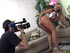 Take a look at this hot behind the scenes clip where these horny ladies get nailes anyways as they look as sexy as ever on camera.