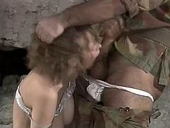 Horny and sexy bitch with awesome ass and dark hair stand son her knees and gives a blowjob. Have a look at this chick in steamy The Classic Porn sex clip.
