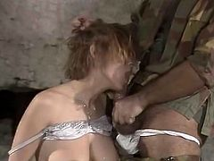 Kinky and filthy whore with nice body and shape sucks the dick