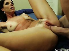 India Summer with shaved muff and hot dude Billy Glide having vigorous sex
