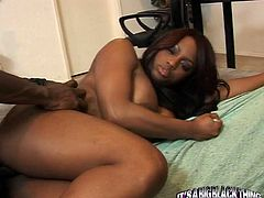 Horny and filthy black whore Jada Fire gets drilled