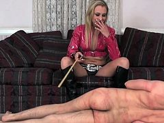 Check out this hottie dominating her guy in obeying her dirty desires