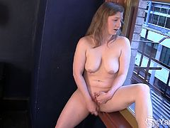 Sexy amateur blonde Lili masturbating her delicious muff at the window,See how this blonde busty, spreads her legs and then finger fucks her sweet lusty pussy.
