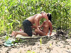 hot fuck in the corn field
