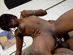 Amazing sex with the busty ebony pornstar Jada Fire