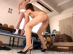 A gorgeous Japanese cutie gets fuckin' nailed in the gym by some horny fuckin' bastard, hit play and check it out right here.