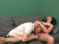 Make sure you check out this hot scene where the horny tranny Amanda Jade ends up with a mouthful of cum after sucking on this guy's big cock.