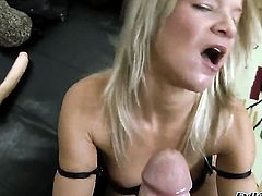 Bianca Lovely asks Rocco Siffredi to insert his meat stick in her mouth after anal sex