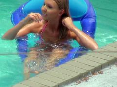 Light haired hot like ire palatable wench swam a little in pool, her body cooled down a little, but her mouth still wanted to fuck. She trailed one guy and gave him lovely dick suck. Watch this sudden blowjob in Mofos Network porn clip!