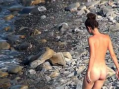 Its a real thrill to watch nude babes enjoying the sun by the beach