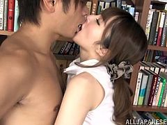 japanese librarian sucks a students cock