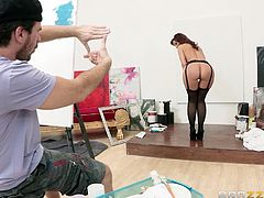 Yeah, it's like a piece of art and this artist knows it! Syren has a gorgeous booty and the guy wants to see it framed but he also wants to fuck it. By combining art and dirty fucking, he succeeds in making a real masterpiece with her booty and his big hard cock. This is the perfect example of ass art!