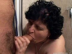 Make sure have a really good look at this hot scene where this BBW mature gets fucked by a horny guy that leaves her out of breath.