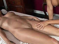 Naughty babes from All Girl Massage posing nasty in a sensual lesbian show