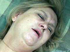 Take a look at this hardcore scene where this horny blonde garnny sucks on this guy's hard cock before being fucked until getting a creampie.