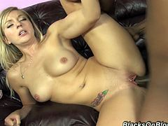 Sizzling blonde Kylee Reese is playing dirty games with three masked black men. She sucks their weiners ardently and then gets fucked in cowgirl position and doggy style.