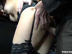 Delightful Alice Ax Gets Gangbanged Hard In Public