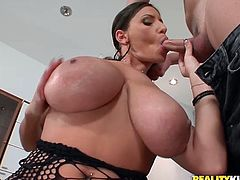 Straight from Romania we have a busty goddess, that wants to please us with her huge natural breasts. Sensual Jane is one hell of a whore and her breasts are fucking amazing! This slut makes Romanian whores known across the border, with her boobs and her cock sucking talent! Stick around for more!