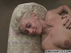 Blonde newbie gets gang banged by all these hard cocks around her. She is one slender bitch that is strong enough to satisfy all of them and be drowned with cum.
