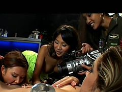 Naughty Asian girls Nautica, Nyomi Loni and Luci are best friends! They get along so good that one day these Asian cuties decided to fuck and film it! Check it out what they've did and stay with them as they've had a great time. Such naughty girls deserve our attention and to stretch their cunts!