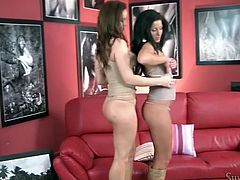 Long and dark haired lesbo Sweetie posed on sofa with her legs spread apart. Her lusty sexy kooky set to eat her thirsting vagina passionate. Look at this filthy babes in Fame Digital sex video!