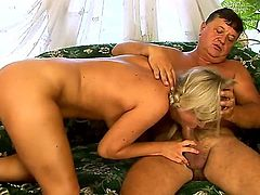 This is the happiest day in this old man's life with gorgeous blonde babe Sunny Diamond