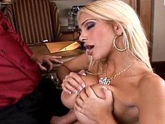 Screaming blonde cougar in a staggering hardcore fuck session