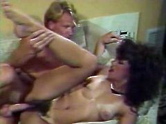 Kinky and slutty whores with nice asses and good boobs give a blowjob and get fucked in mish pose. Have a look in steamy The Classic Porn sex clip.