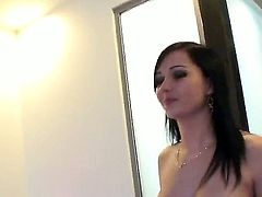 Sexy and hot brunette Angell Summers is seducing you in a shower and having a nice sex that includes a wonderful blowjob with Manuel Ferrrara who is showing a lot of passion