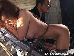 Asians Bondage brings you a hell of a free bdsm video where you can see how a hot Japanese belle gets tied up and enjoys milk enemas til she cums very hard.