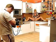 Silvia Saint is completely naked and plays with her muff pie non-stop