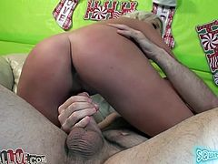 Sex insane busty slut Britney likes it harder and rubs her clit intensively while riding hard cock reverse cowgirl style. Be ready for steamy cowgirl sex tube movie for free.