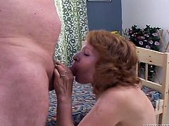Lustful mature slut gets horny while washing her pussy. She attacks his dick and blows it with a great desire. Then she gets her muff rammed hard right on the floor.