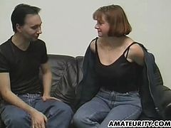 A German amateur couple doing it for a casting ! Blowjob, fuck and cumshot ! Nice homemade hardcore action