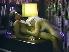 Retro busty babe gets her pussy licked by one horny pianist right on the piano. He eats her shaved snatch greedily and plays with her jaw dropping juicy bobbies.