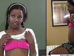 Ebony Schoolgirl Gets Railed Nevaeh