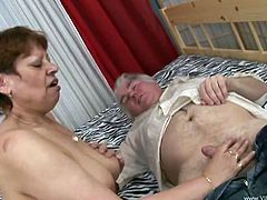 Get a load of this hot scene where this horny mature couple fuck hard in front of the camera as you hear her moan.